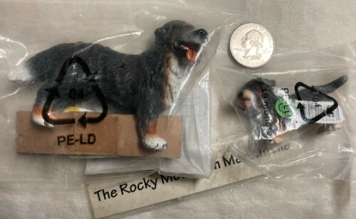 NEW SEALED Lot Schleich Bernese Mountain Dog Female 16339 & Puppy 16344 RETIRED
