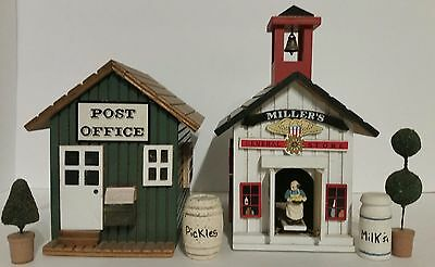 "General Store Animated Wood Music Box 1988 Plays ""Memories"" & Post Office Box"
