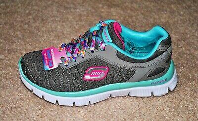 SKECHERS Girls' Skech Appeal Eye Catcher Gray Memory Foam Sneakers - Size...