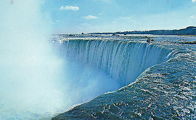Postcard  Canada the Horseshoe falls roar   Niagra falls Ontario  posted