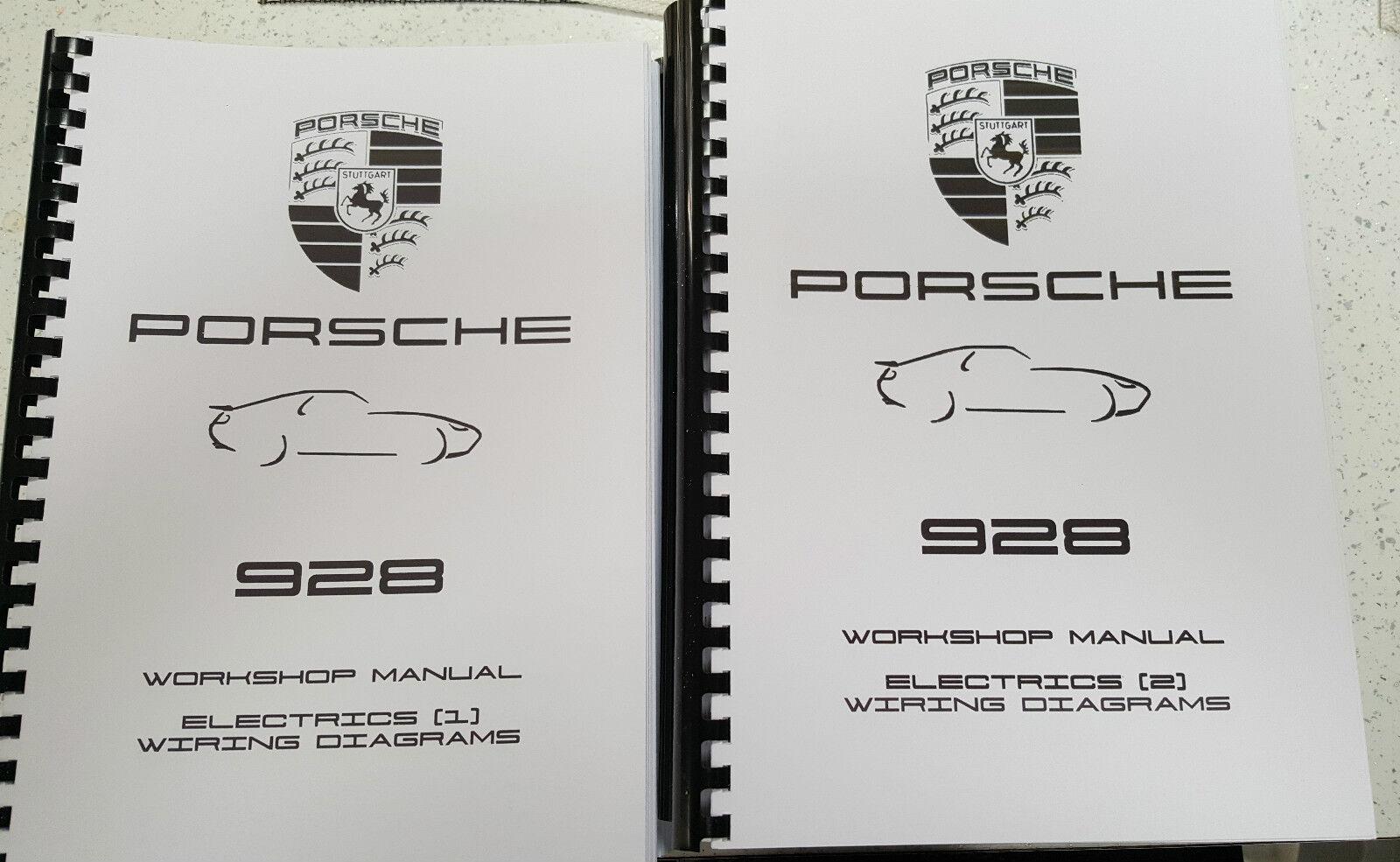 Porsche 928 Workshop Manual Reprinted 1978 1994 Inc Wiring Diagrams Diagram