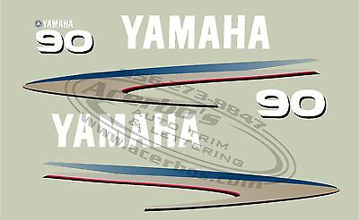 Yamaha outboard boat motor decal 90hp emblem kit. Also for 40,50,60,70,80 &110