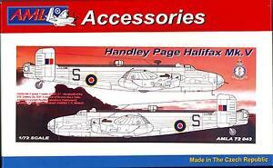 AML Models 1/72 HANDLEY PAGE HALIFAX Mk.V Resin Correction Set