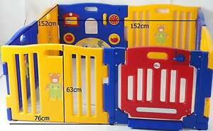 MAMAKIDDIES Baby Child Kids 8 Sided Plastic Play pen Playpen Auburn Auburn Area Preview