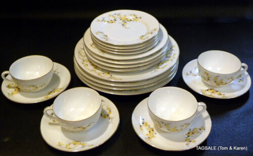 20 pcs ~ Porcelain Union T ~ Yellow Rose PUN 13 ~ 4 X 5 Piece Settings GORGEOUS