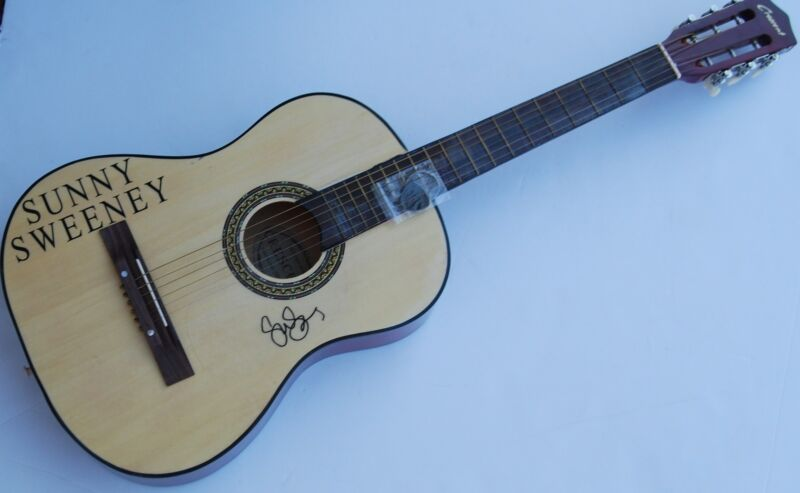 SUNNY SWEENEY signed COUNTRY SUPERSTAR Acoustic guitar W/COA FROM A TABLE AWAY
