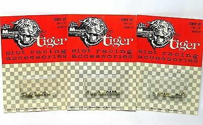Monogrammed Car Accessories (3 1964 Monogram Tiger Slot Car Racing Accessories 2-56 x 1/8