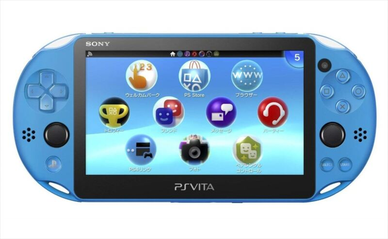 SONY+PS+Vita+PCH-2000+ZA23+Aqua+Blue+Console+Wi-Fi+model+from+JAPAN+F%2FS+NEW