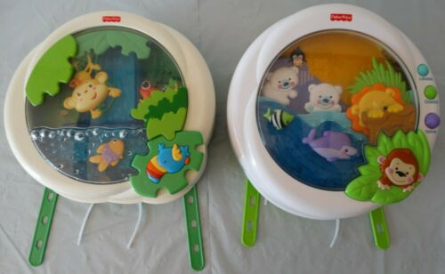 Fisher Price MUSICAL Peek-a-Boo Soother Crib Toy:PRECIOUS PLANET/RAINFOREST