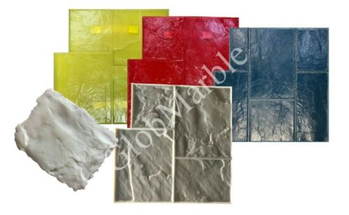 5Pc Set Ashlar Slate Concrete Stamps SM 3002. Slate Stones Stamping Mats