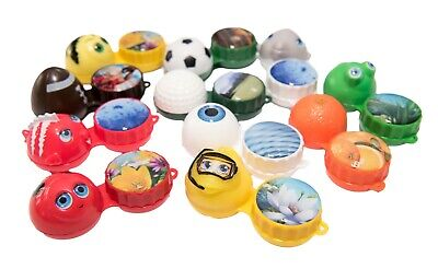 Contact Lens Case Cute Fun Travel Storage Box Flat 11 Fun Designs Available
