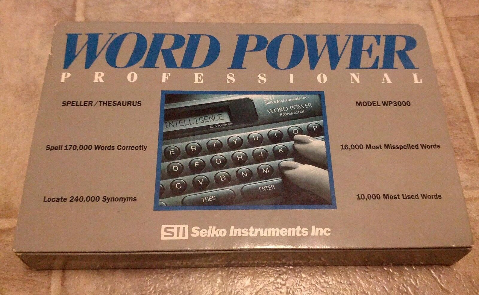 Seiko SII Power Professional Dictionary Thesaurus WP-3000