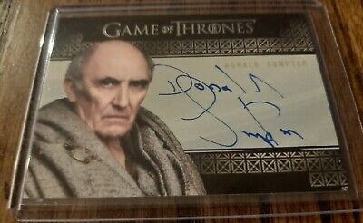 Donald Sumpter - Game of Thrones Inflexions Valyrian Autograph card Rittenhouse