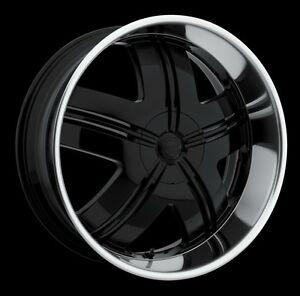 """Mags 22"""" noir 6 trous GM, Nissan etc..."""