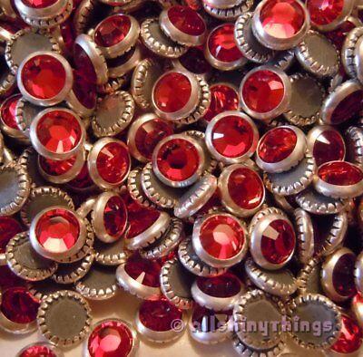 144 pc. SWAROVSKI Crystal LIGHT SIAM w/Silver Rim HOTFIX Rhinestones 20ss #2029