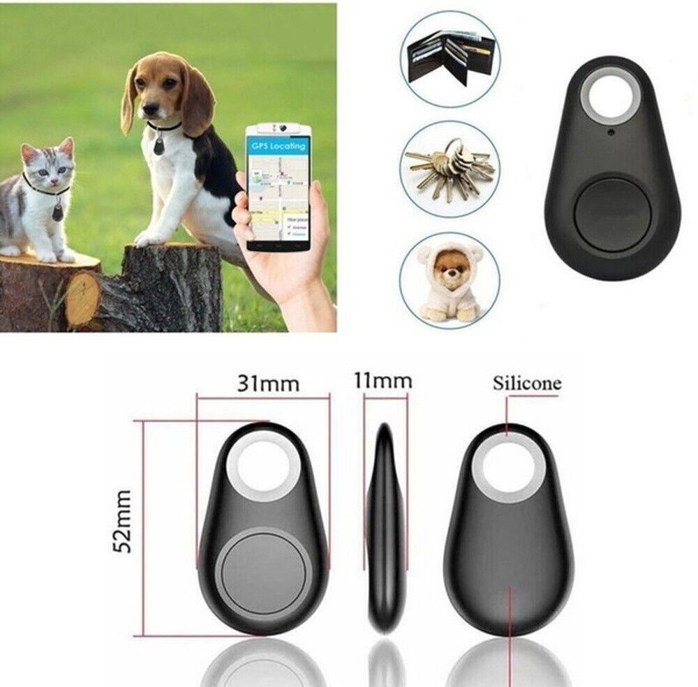 GPS Tracker Wireless Locator Lost Für Hunde Halsband Peilsender Katzen Schwarz