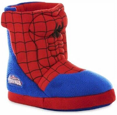 Spider-Man Marvel Comics Plüsch Stiefel Kostüm Hausschuhe Größe 5-6,7-8,9-10 - Spiderman Kostüm Schuhe