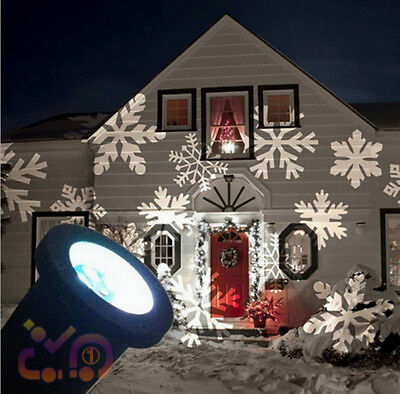 Christmas Outdoor LED Moving Snowflake Laser Light Projector Lamp Party Decor UK