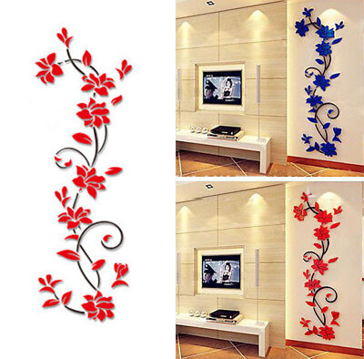 (DIY 3D Acrylic Crystal Wall Stickers Living Room Bedroom TV Background Home)