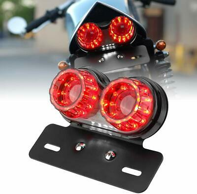 Motorcycle LED Turn Signal License Plate Brake Tail Light For Honda Yamaha Dyna