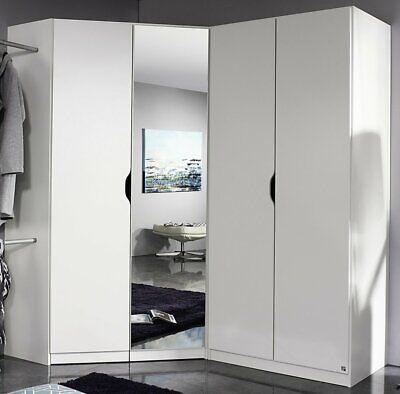 Eck-Kleiderschrank Freiham Schranksystem Eck-Schrank Schrank Kleiderschrank Weiß