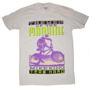 HARO-Mike-re-gara-di-BMX-Maglietta-Bianco-Vintage-Antica-Scuola-Media