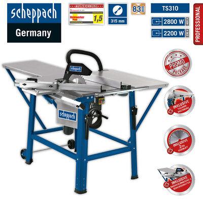 Scheppach Tischkreissäge TS310 230V +2.HM-Blatt TVL+TVB+Schiebschlitten