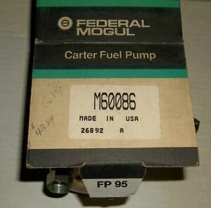 CARTER M60086 MECHANICAL GM FUEL PUMP NEVER USED $20.00 Belleville Belleville Area image 2