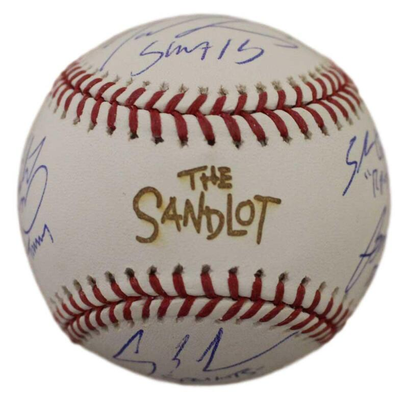 The Sandlot Autographed OML Baseball Sandlot 6 Sigs Smalls Squints BAS 25629