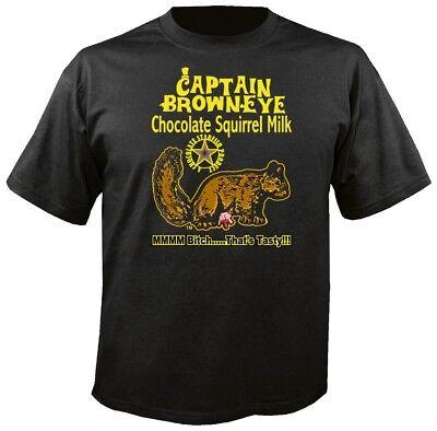 Captain BrownEye Chocolate Squirrel Milk Funny Adult Humor T (Adult Chocolate Tee T-shirt)