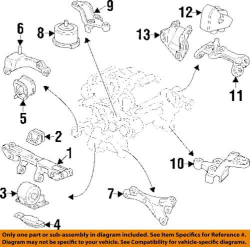 [ZHKZ_3066]  Acura HONDA OEM 96-98 TL-Transmission Trans Mount 50805SZ5020 | eBay | 98 Acura 3 2tl Engine Diagram |  | eBay