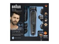 Braun Men's Multi Grooming Kit MGK3080 9-in-1 All in One Shaving / Trimming Kit BRAND NEW
