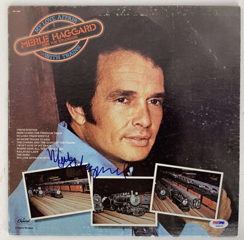 Merle Haggard Signed Autographed Love Affair With Trains Album PSA/DNA