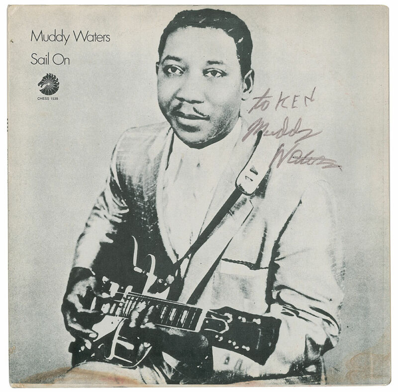 """Muddy WATERS (Blues): """"Sail On"""" - Signed Album"""