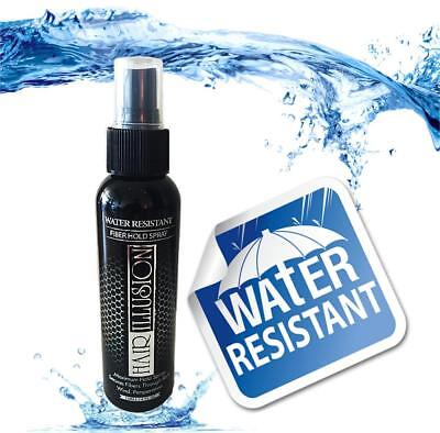 Hair Fibers (Water Resistent) holding Spray, hair spray for rain and sweating