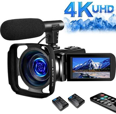 SAULEOO 4K Video Camera Camcorder Digital YouTube Vlogging Camera Recorder UHD