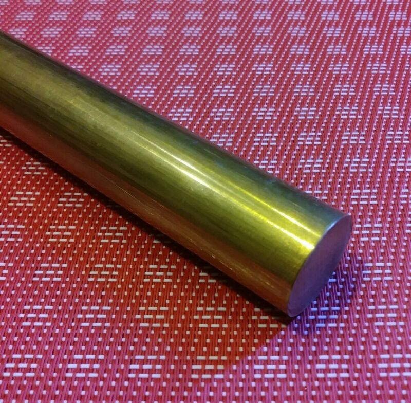 "3/4"" diameter X 12"" long c360 brass rod new solid round bar stock MT"