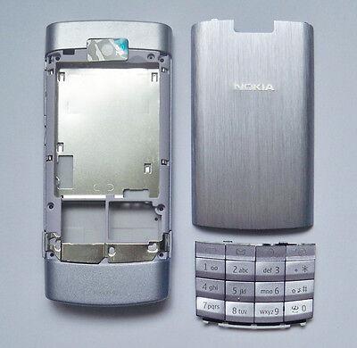 Silver housing fascia facia cover case faceplate for nokia x3-02 x3 02 silver ()