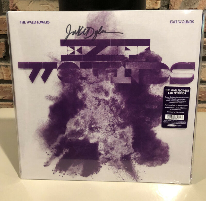 SIGNED The Wallflowers Exit Wounds Gray Purple Marbled Vinyl 502/750 Jakob Dylan