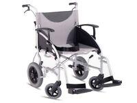 Z-Tec folding aluminium wheelchair NEW *No footrests* Lightweight MINT