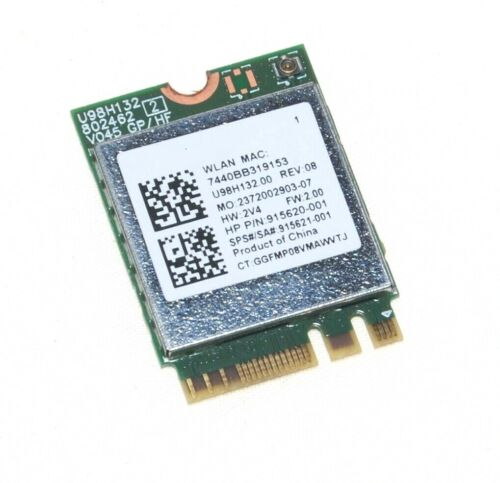 915621-001, 915620-001, RTL8821CE HP Wireless Bluetooth card HP