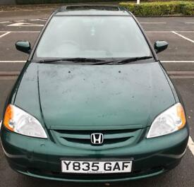 2001 Honda Civic coupe. Very low mileage 42k