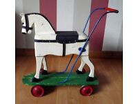 Childs push/play wooden horse