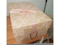 Vintage Floral Extra Large Wedding Dress Box