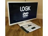 22in LOGIK LED TV 1080p FREEVIEW HD + DVD PLAYER