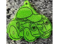 Stocking filler - Cute green cartoon car child's reflector – post or collect