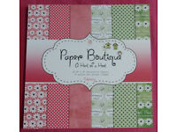 """Paper Boutique A Hint Of A Hoot Paper Pad Raspberry – 36 Sheets, Size: 8"""" x 8"""""""