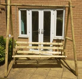 Garden Swing Seat, Pine/Chain construction, extra sturdy