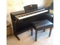 Yamaha Clavinova CLP-320 Black Gloss Digital Piano & Stool