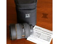 Nikon mount Sigma EX Aspherical 12-24mm f4.5-f5.6 DG HSM Lens, built-in lens hood, cap, case, mint!